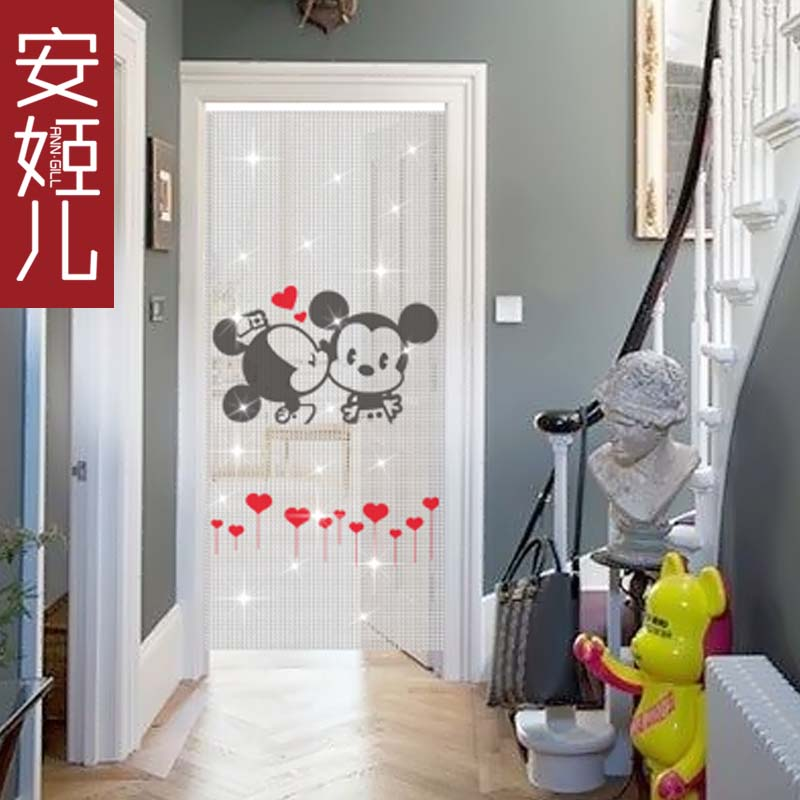 Children crystal ann suu kyi composea portieres new mickey pattern creative living room entrance bedroom curtain partition curtain