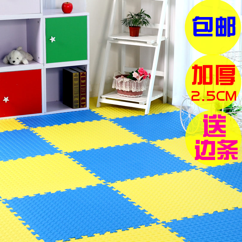 Children eva large mosaic flooring foam puzzle mat crawling mat bedroom slip mats anti thick 60*2.5 cm