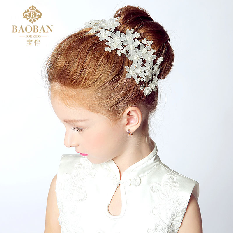 Children headdress flower hair accessories korean beautiful bride wedding dress show children headdress headdress flower head accessories