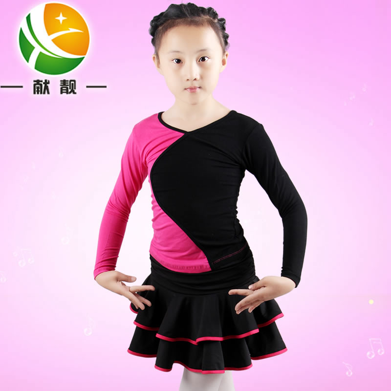 Children latin dance dress girls summer dress children dance clothes dance practice clothes and children's dance skirt children dance clothes