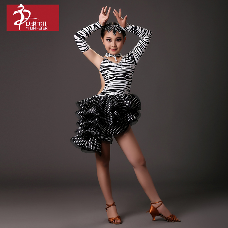 Children latin dance latin dance costumes children latin dance clothing new latin dance competition clothing performance clothing fy064