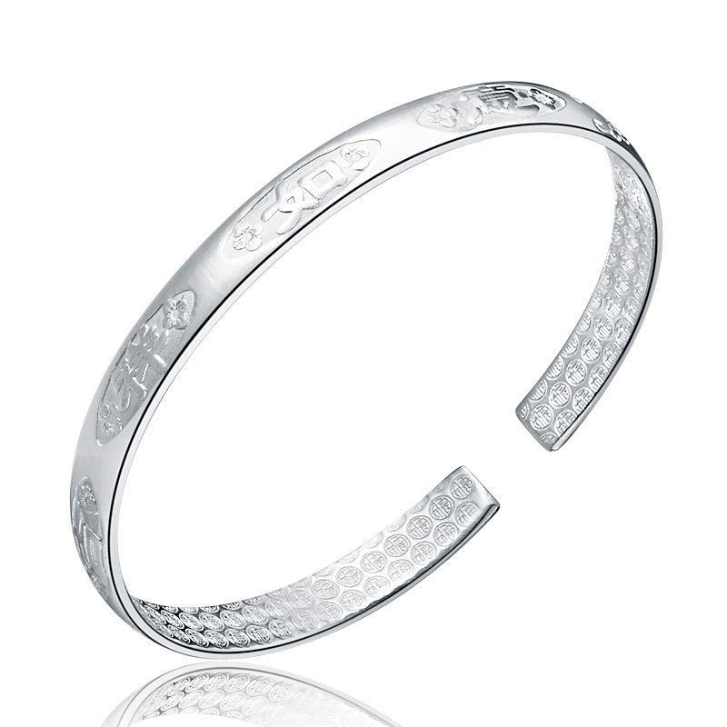 Children silver bracelet 999 silver fine silver bracelet fashion jewelry bangles jewelry wealth luck