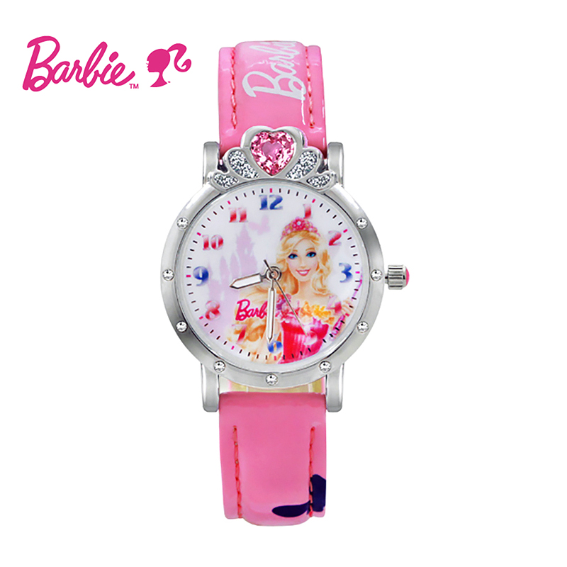 Children watch disney girls crown princess barbie girls watch female students korean version of the simple quartz watch