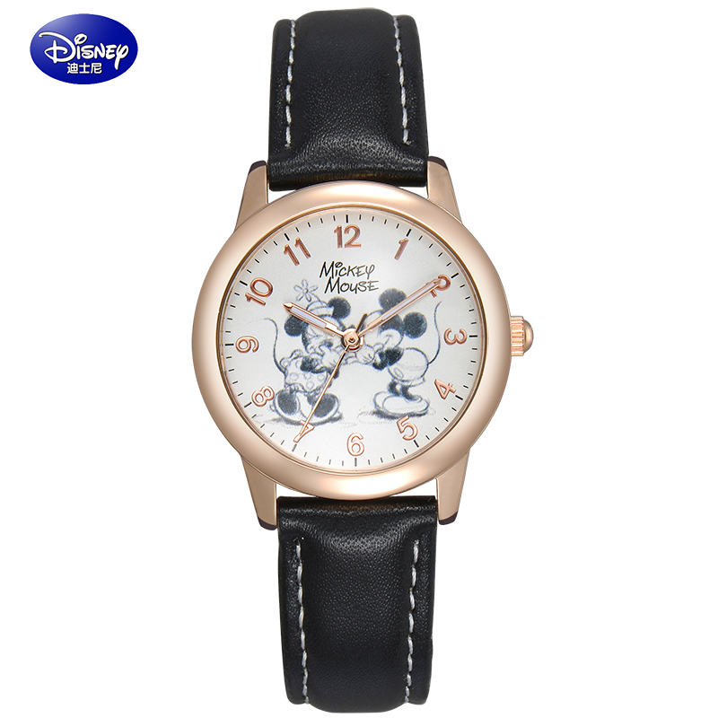 Children watch disney mickey cartoon boy boy student table luminous waterproof quartz watch strap watch men
