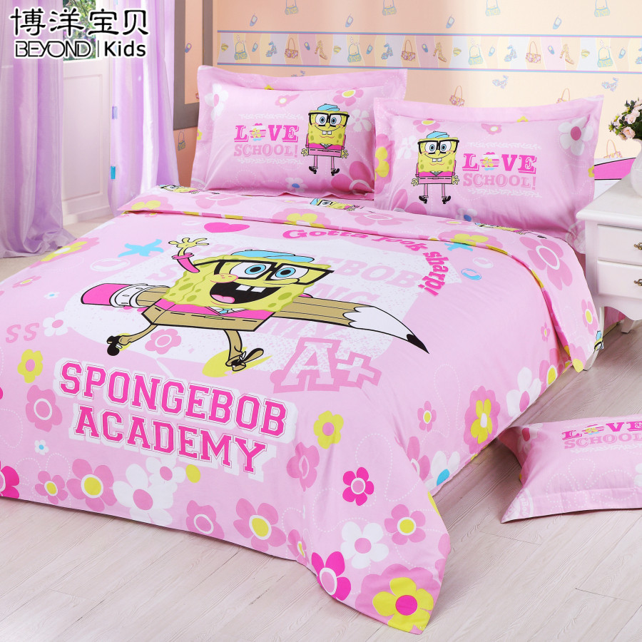 Children's bedding bo yang bo yang textile gosklno dr. children cotton printed cotton bed linen family of four three-sponge