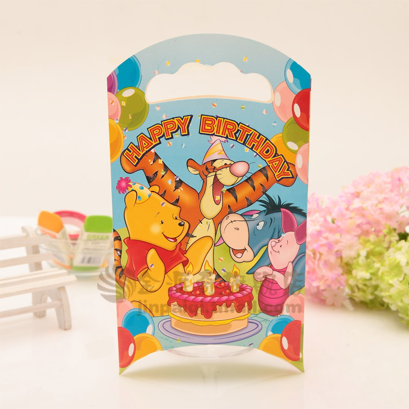 Children's birthday party decorated and furnished goods cartoon birthday gift bag paper bag favor bags creative gift bag