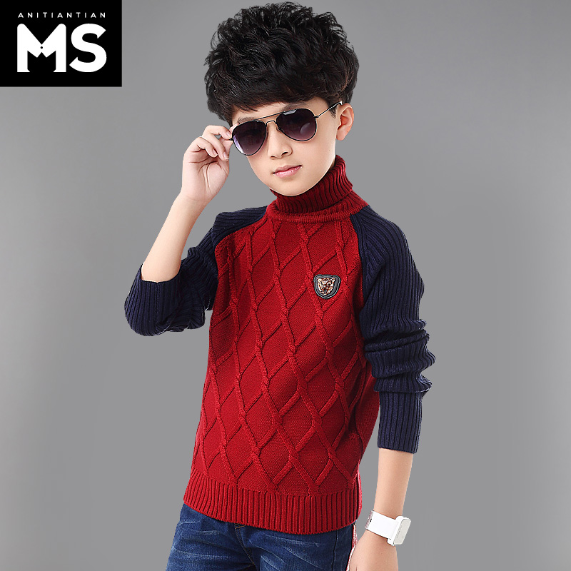 Children's clothing boy sweater big virgin boy autumn 2016 new children's winter sweater plus thick sweaters sweater hedging