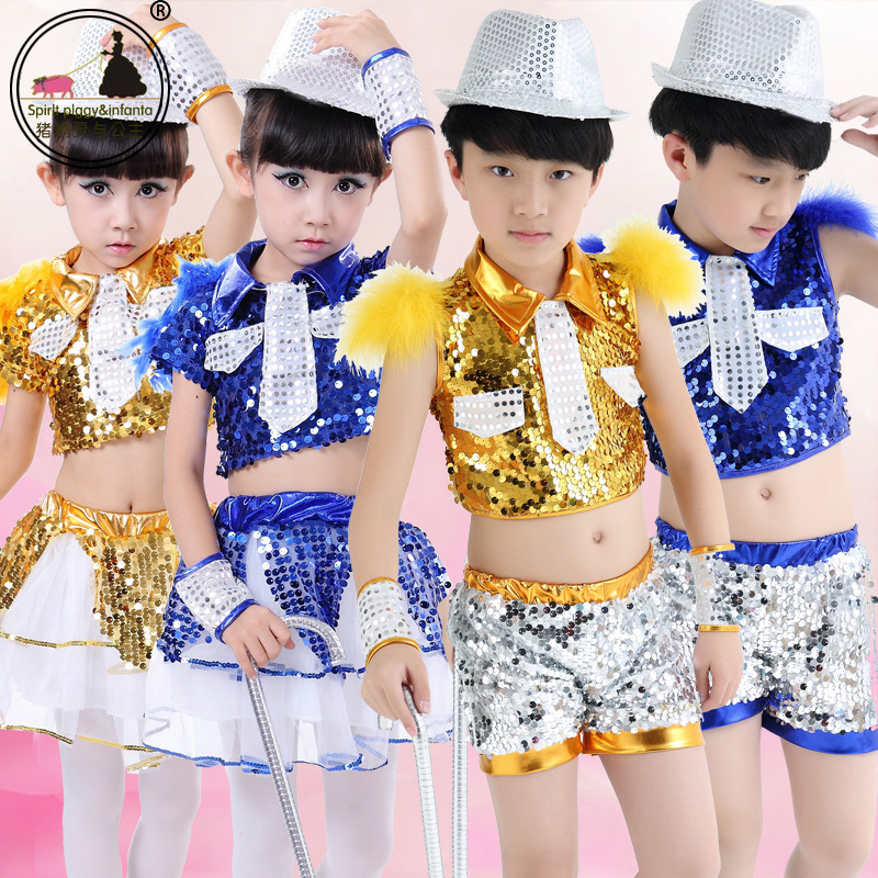 7ed1a6921851 Get Quotations · Children's costumes boy hip-hop jazz dance jazz dance  clothes costume costumes dance performance clothing