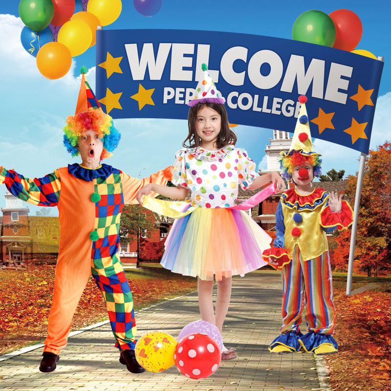 Children's halloween costume clown clothes children's performance clothing costume princess costume halloween party decoration