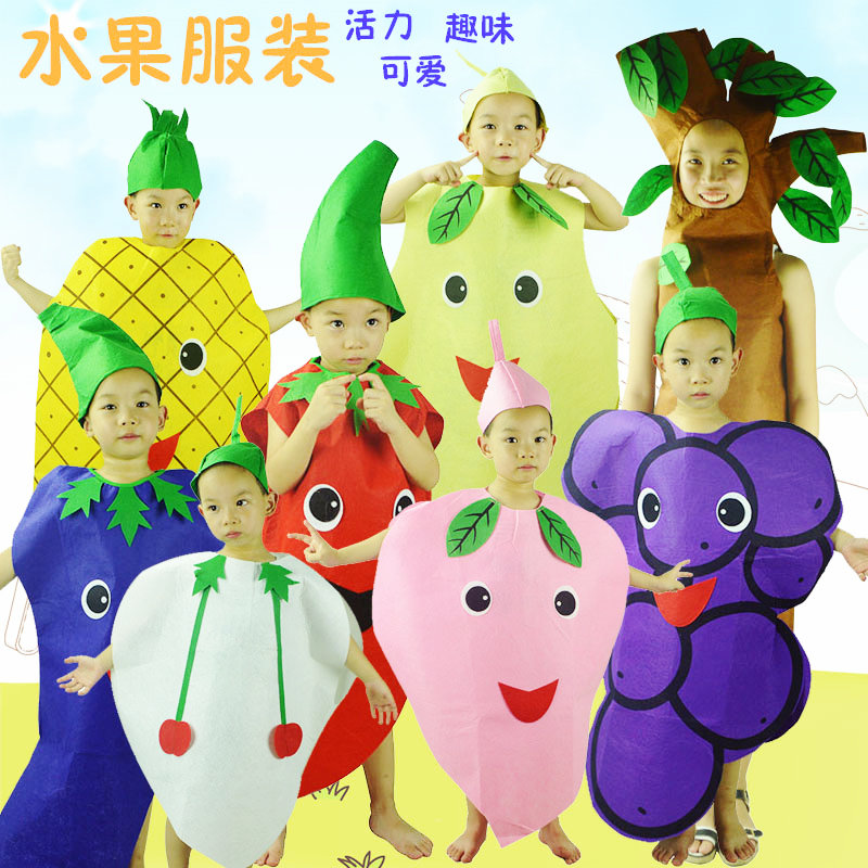 Children's halloween dance performance clothing costumes baby clothes infant fruit class performances vegetables modeling clothing