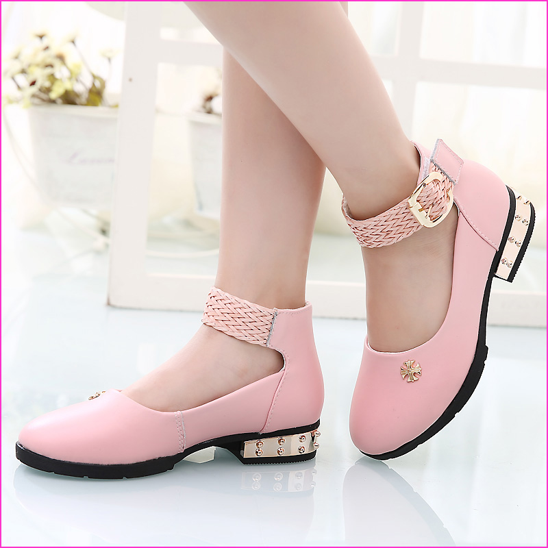 Children's shoes girls shoes shoes spring 2016 new big virgin korean leather high heels child princess shoes shoes