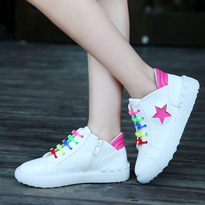 Children's sports shoes women shoes casual shoes 2016 new wave of spring and autumn big boy shoes girls shoes white shoes white shoes