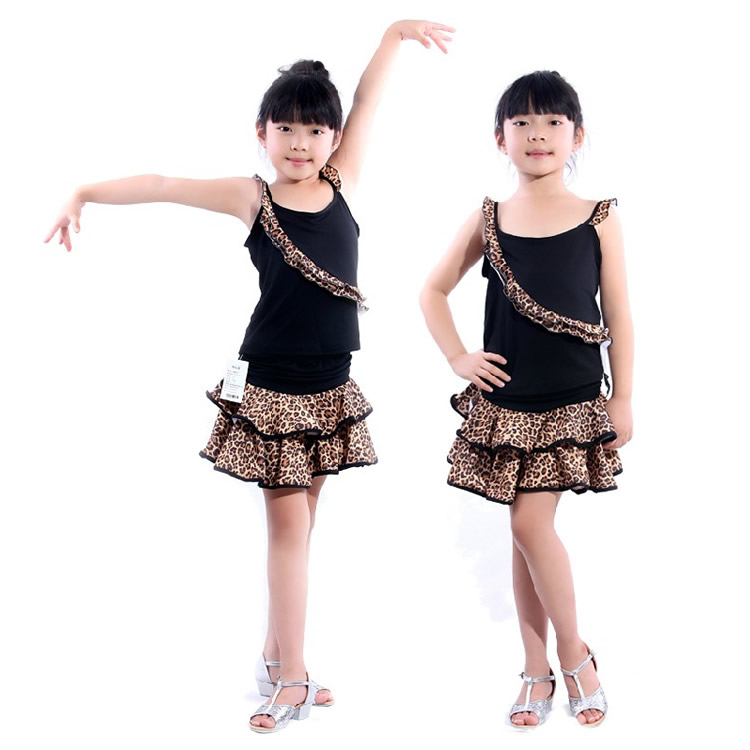 Children's summer suit children's latin dance clothes dance practice suit children dance clothes work clothes shirt skirt suit