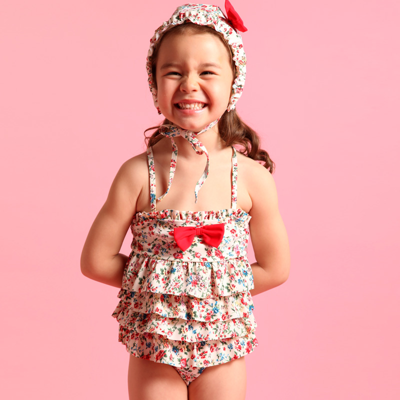 Children's swimwear piece swimsuit girls cute korean children baby baby girl in a bathing suit special offer free shipping