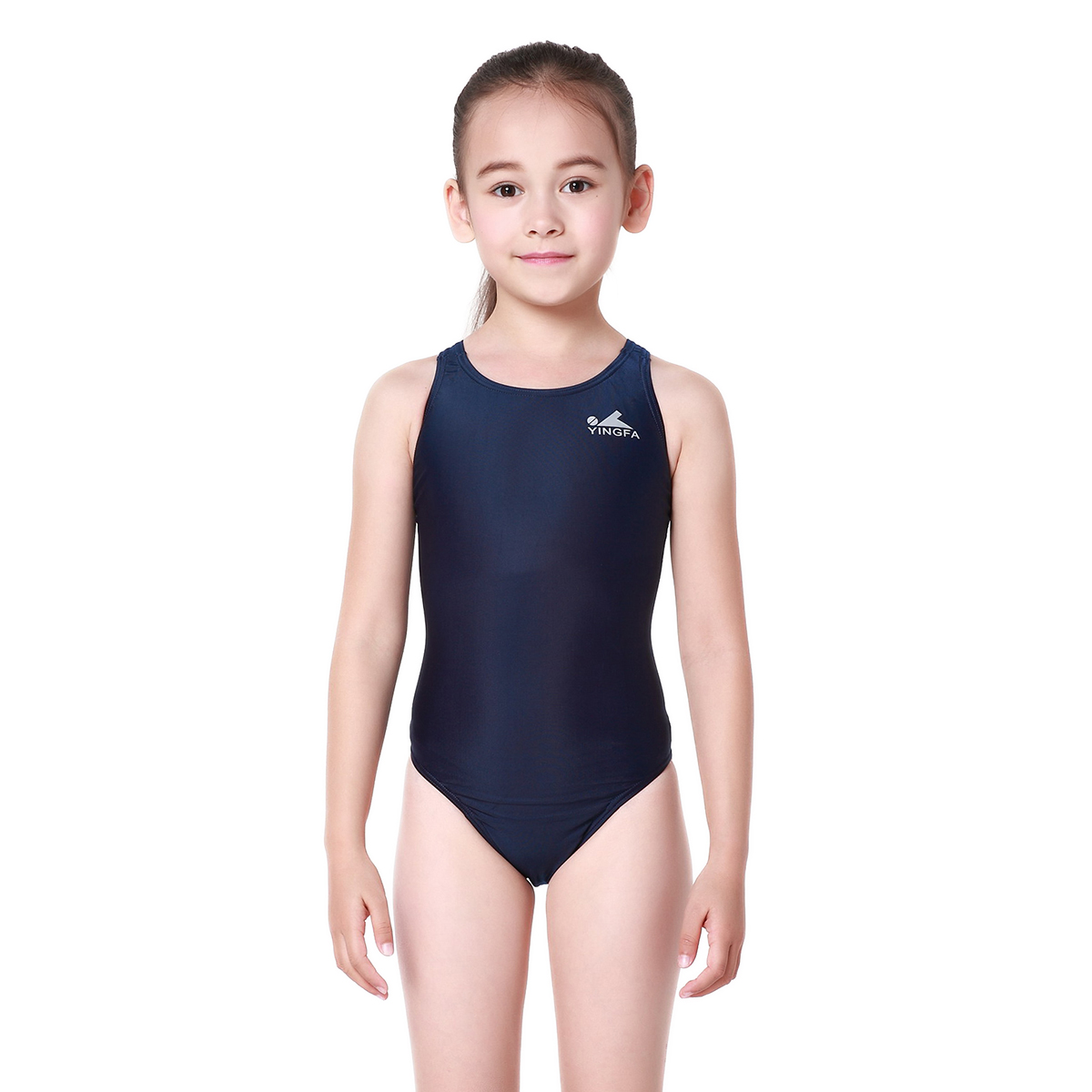 6d1e6eb6ca2 Get Quotations · Children's swimwear yingfa classic solid net surface  environmental fabric piece swimsuit ms. professional fitness training