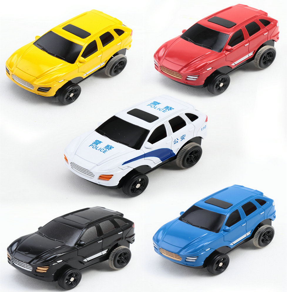 Children's toy police car bus simulation alloy car models back to power car model male model boy toy car toy car