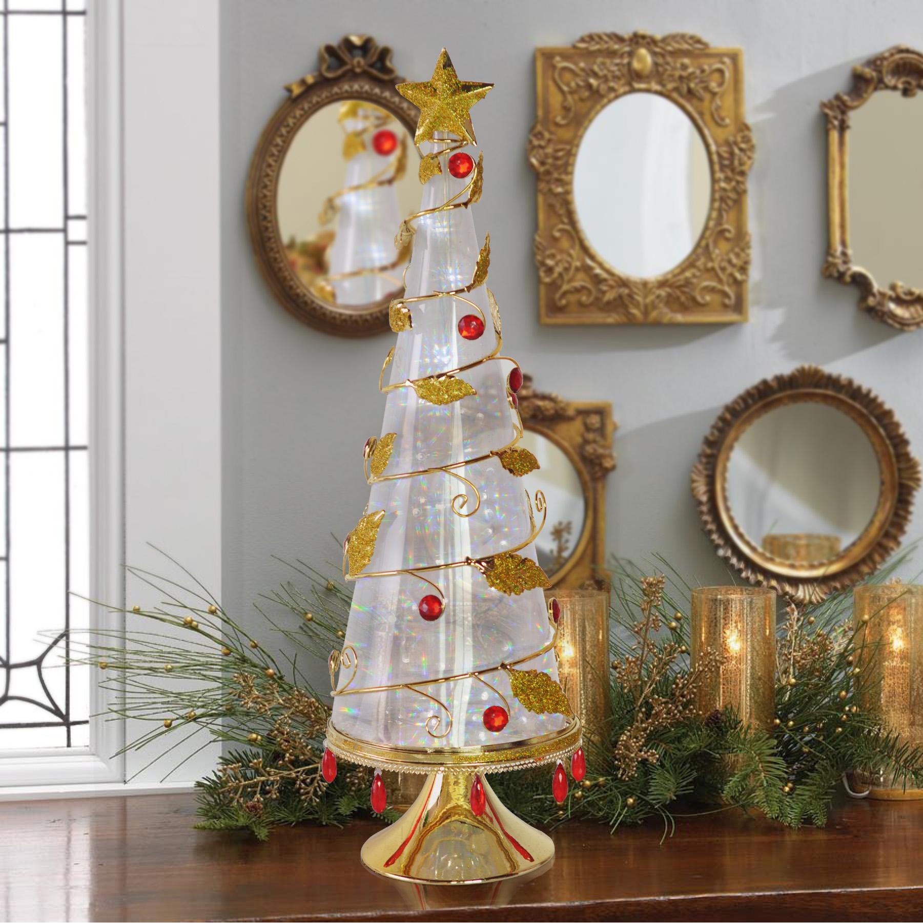 get quotations china zun christmas tree lights symphony wrought iron christmas tree ornaments desktop fiber optic christmas tree - Small Fiber Optic Christmas Tree