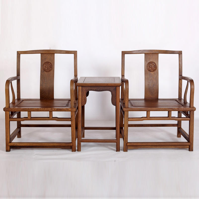 Chinese arts wing hin court mahogany furniture wenge armchairs three sets of ming qing classical chair antique chair