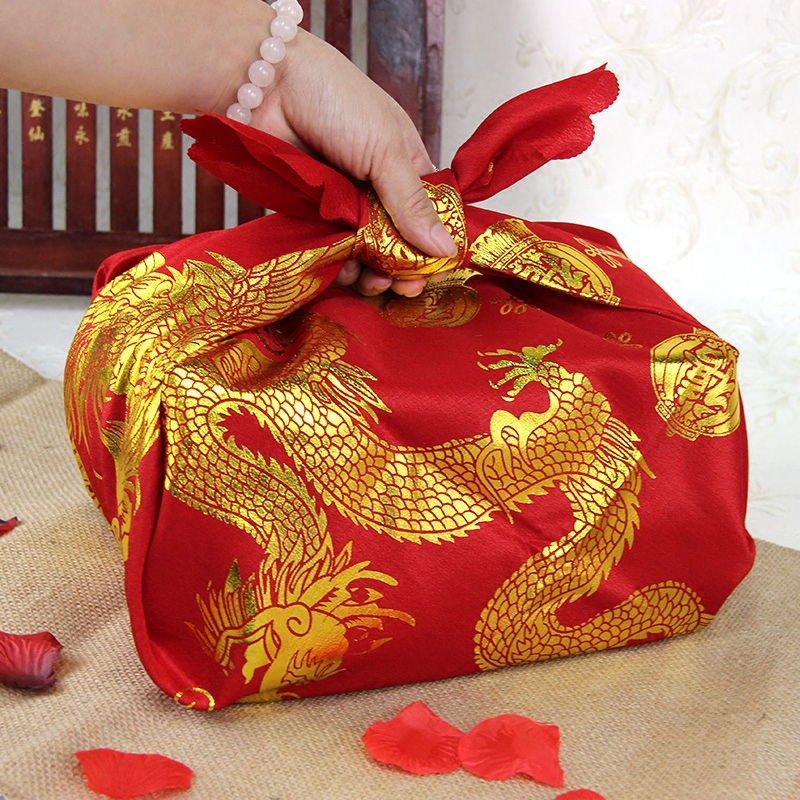 Chinese gilt wedding bridal dowry dowry furoshiki married hi pots wedding supplies color red cloth wrapped cloth