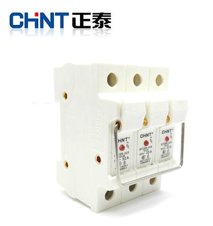 Chint cylindrical cap fuse holder fuse holder fuse holder rt28-63x 3 p with light without fuse