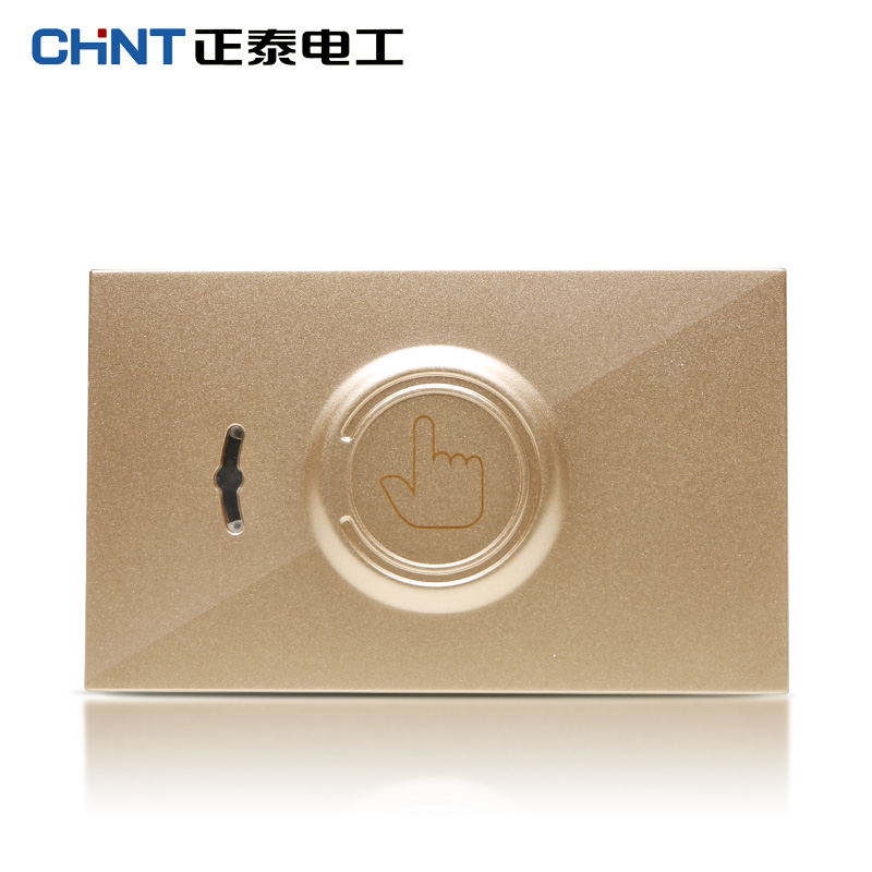 Chint electrician 118 type steel frame 5d champagne gold wall switch socket touch delay switch module