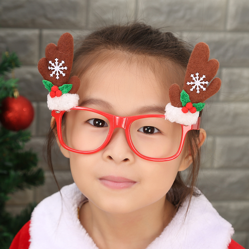 Christmas cartoon adult children glasses frame glasses without lenses sell meng funny glasses christmas party dress supplies