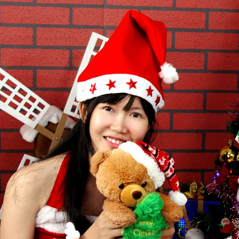 Christmas decoration gift wovens adult children christmas tree star electronic lights christmas hats christmas party supplies