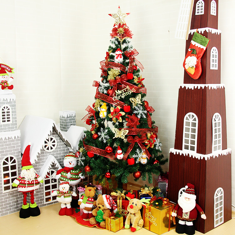 Christmas decorations 1.8 m luxury encryption christmas tree christmas tree christmas package deluxe package ornaments fortune