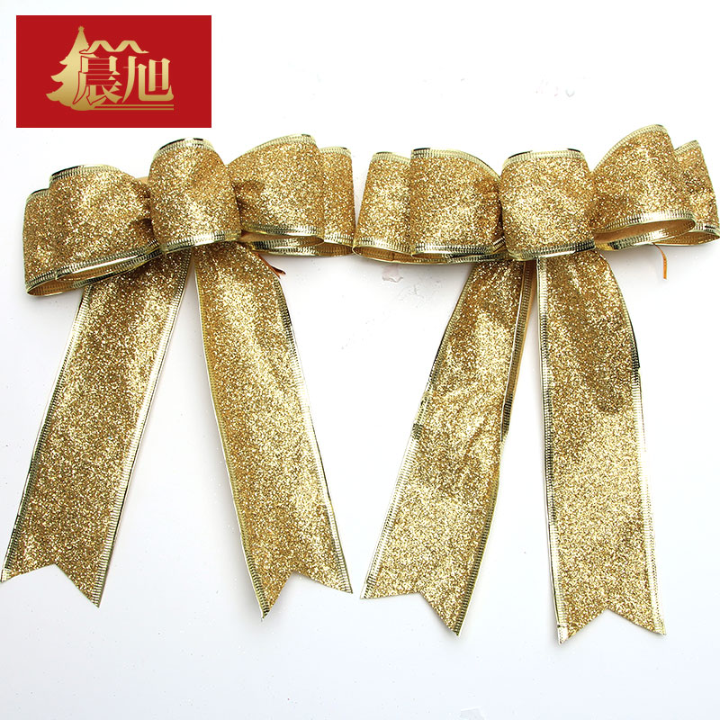 Christmas decorations christmas bow christmas decorations christmas tree package accessories color ribbon bow mistletoe