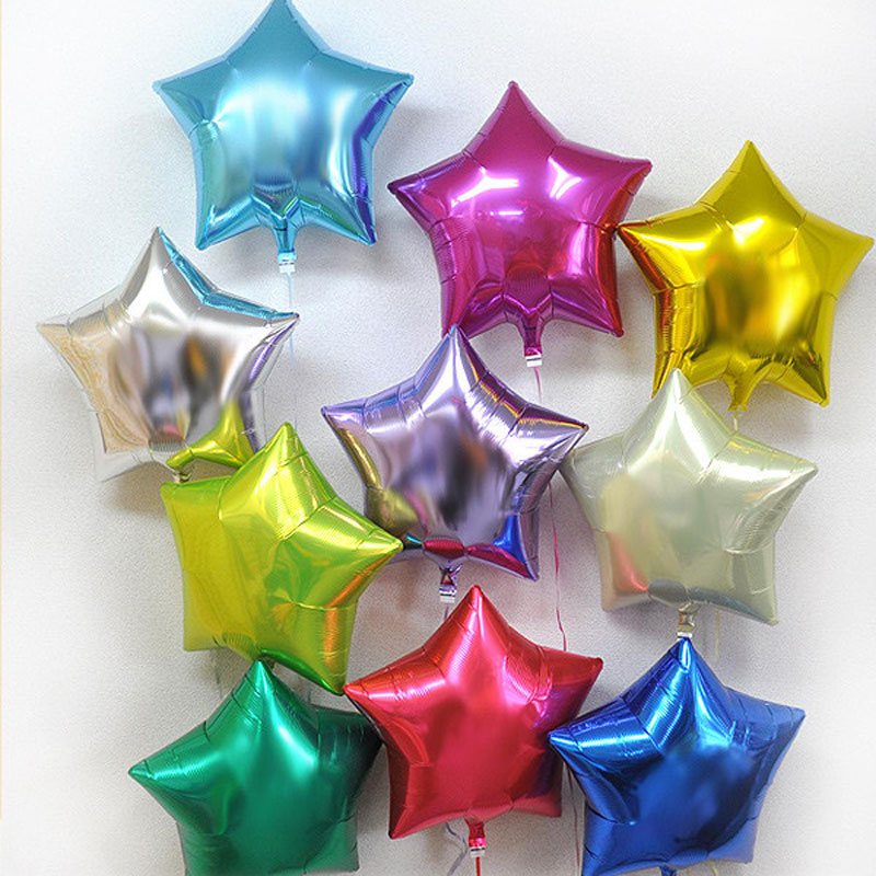 Christmas new year's venue pentagram aluminum balloons birthday party party party balloon wedding decoration stars