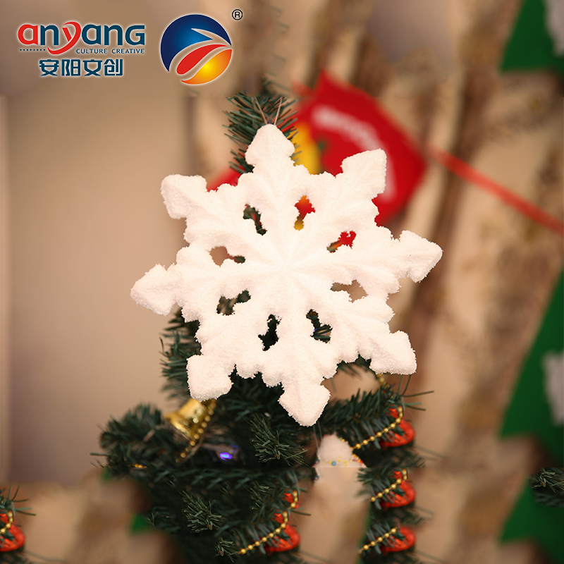 Christmas ornaments festive decorations realistic anyang foam foam snowflake snowflake pendant with a romantic pink beads