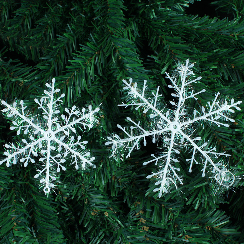 Christmas supplies christmas decorations christmas tree ornaments snowflake christmas ornaments santa claus snowman snowflake size