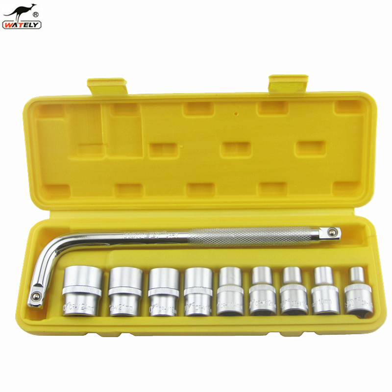 Chrome vanadium steel socket set 1/2 pc 10 sets of socket wrench socket wrench machine repair sleeve combination
