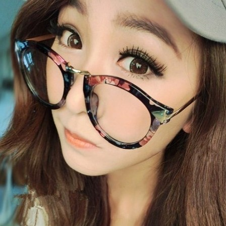 49a6ed72ec Get Quotations · Circular arrow male ms. fashion sunglasses large frame  glasses frame can be equipped with myopia