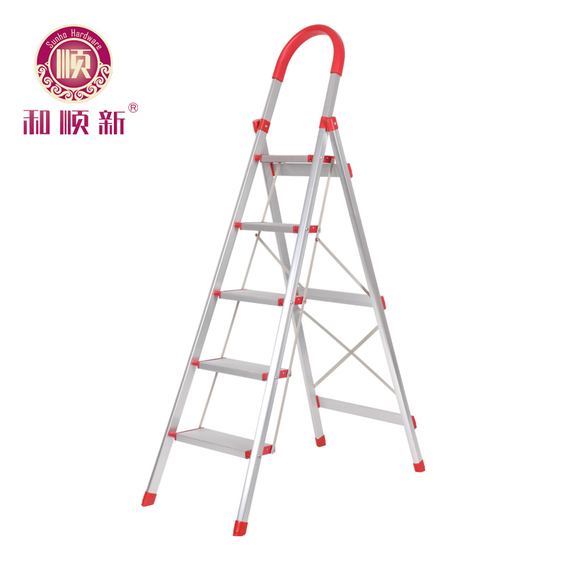 Cis new thicker aluminum ladder household word ladder folding ladder step ladder ladder lift telescopic ladder four five