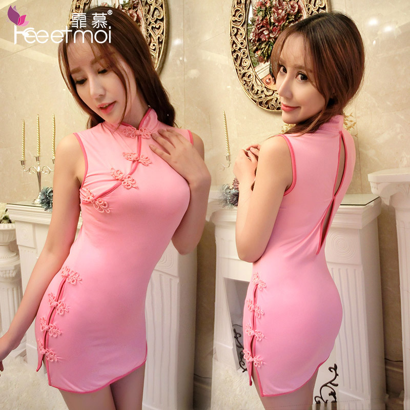 Classical perspective sexy skirt big yards adult female temptation sexy lingerie suit repair body qipaos uniforms sao  y