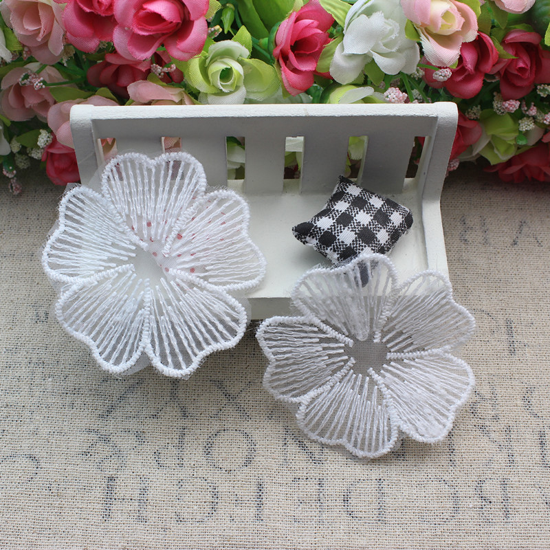 Clothing accessories diy lace mesh embroidery lace motif lace flowers embroidered cloth patch stickers affixed white one