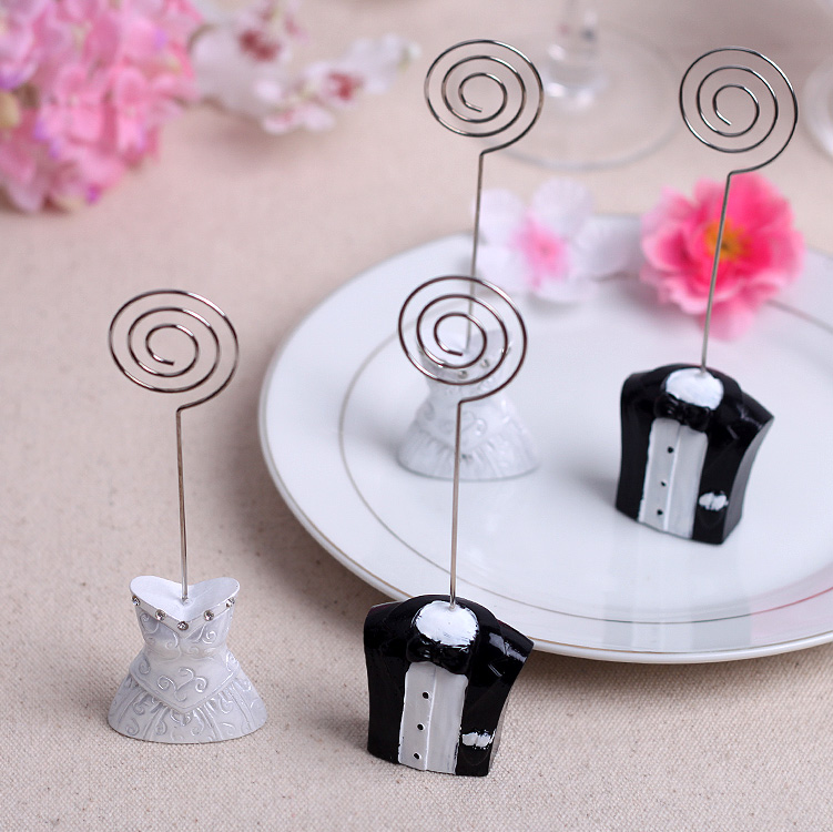 Cocoa daiyi wedding dress the bride and groom table cards seats seats clip clip creative european seat card table card