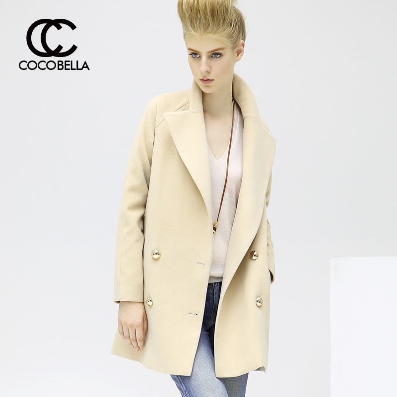Cocobella 2016 new autumn and winter long section of double-breasted woolen coat ladies woolen coat c t200