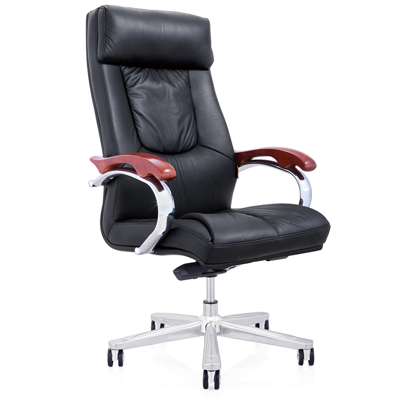 Coffee color black sipi leather medium and small chair chair lift swivel office chair computer chair boss executives