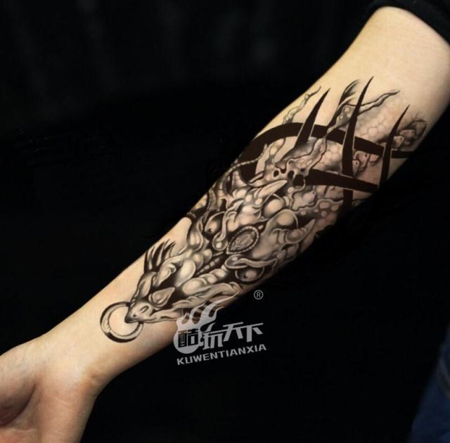 381f5a6e7 Get Quotations · Coldplay over the shoulder in the world of tattoo stickers  cool dragon totem tattoo flower arm