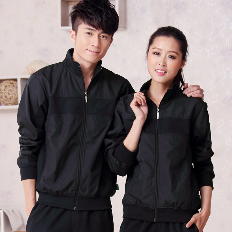 Collar cardigan sweater sports men and women long sleeve xl jacket casual jacket zipper genuine couple models