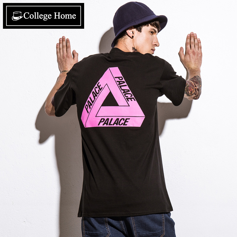 College home simple loose short sleeve t-shirt printing body shirt men tide brand popular men's tide of japanese men