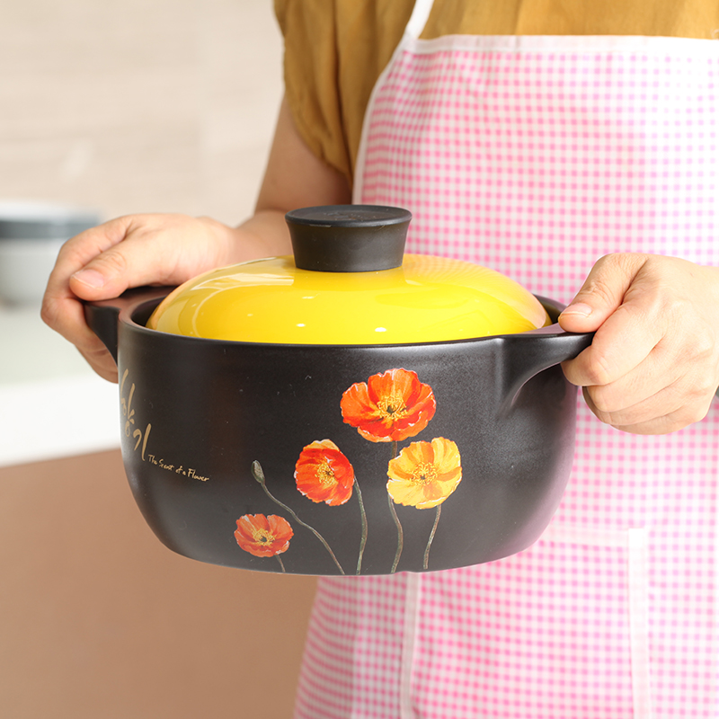 Color crown home health pot soup pot ceramic casserole stew pot soup pot soup pot kamameshi flame temperature