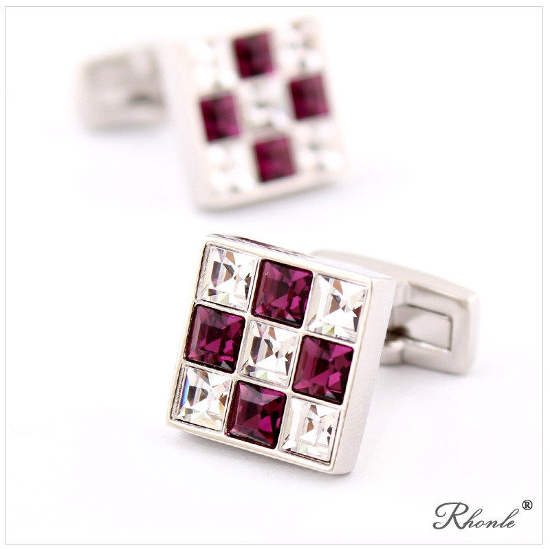 Color dazzling diamond luxury czech rhinestone cufflinks for men cufflinks french shirt shirt special gift