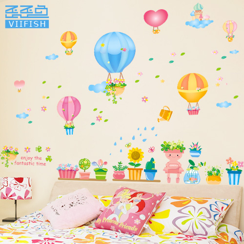 Color painting cartoon removable wall stickers wall stickers children's room decor decals kindergarten classroom layout