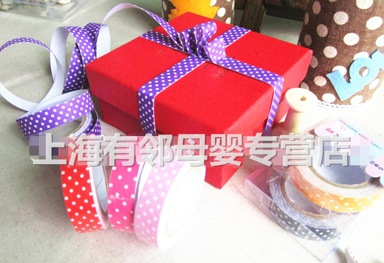 Get Quotations Color Polka Dot Fabric Tape 1 4 Cm Wide 3 M Long Gift Ng