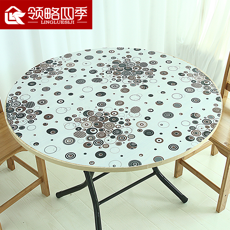 Color pvc plastic soft glass mat waterproof tablecloth tablecloth round table coffee table mat tablecloth disposable tablecloth meal oilproof