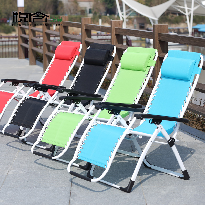 Color square tube folding siesta reinforcement siesta single tube folding chair recliner chair siesta nap office