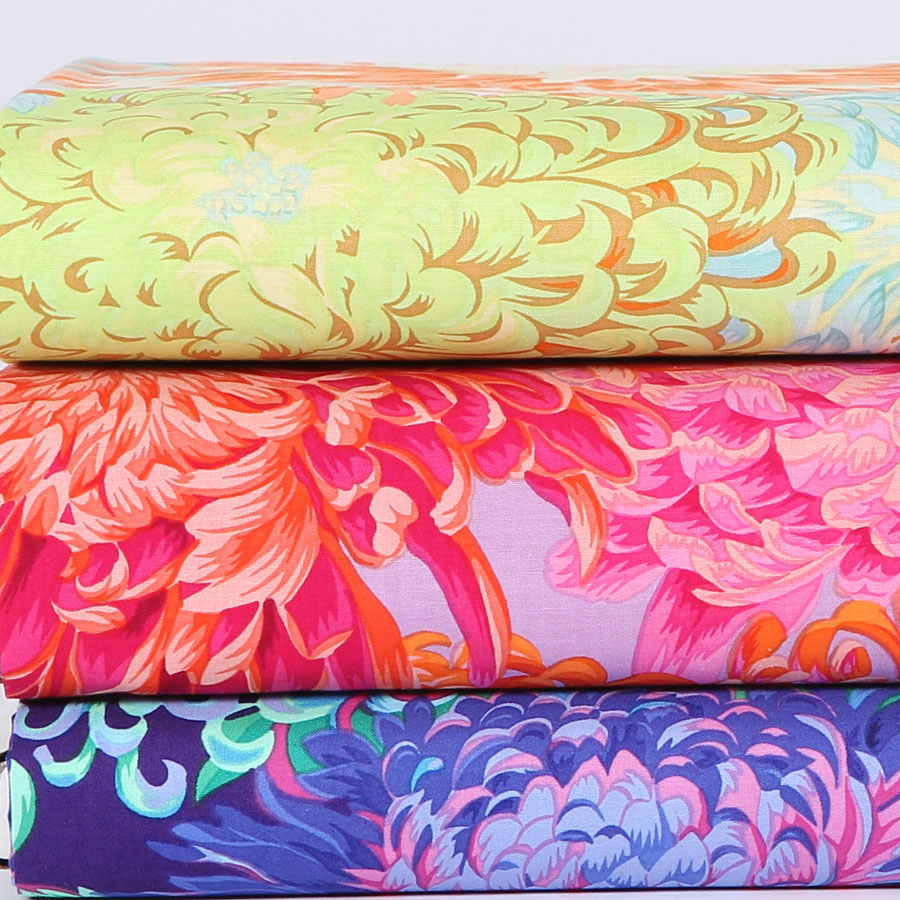 Colorful chrysanthemum imported fabric clothing fabric patchwork diy handmade cotton cloth/united states rowan/45*55 cm